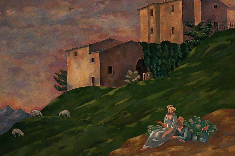 "Eugeniusz Zak, ""Romans pasterski (Sielanka)"", 1921 rok"